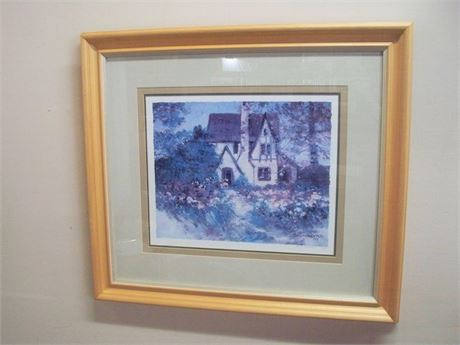 FRAMED AND TRIPLE MATTED SIGNED AND NUMBERED (243/950) DAWNA DARTON PRINT