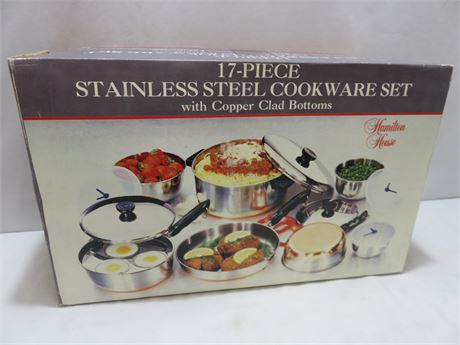 17-Piece Stainless Steel Cookware Set