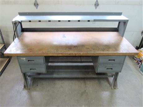Large Heavy Duty Metal Work Bench with 4 Drawers