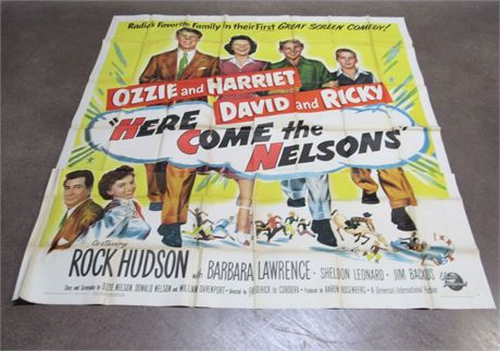 "Very Rare  ""Here Comes the Nelsons""  Six Sheet Advertising Movie Poster 81""x 81"""