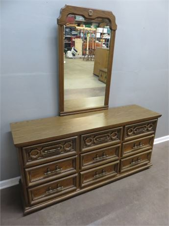 BASSETT FURNITURE Spanish Martinique Triple Dresser