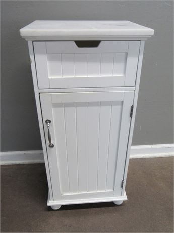 Small Utility Cabinet with Marble Top