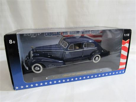 RICKO 1:18 SCALE DIECAST - 1934 V16 CADILLAC AERODYNAMIC COUPE WITH BOX