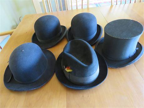Vintage Black Bowler Hats