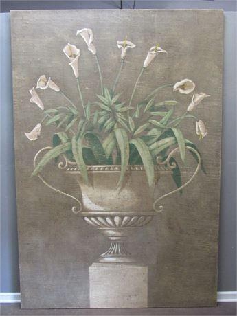 Huge - Original Jacques Lamy Mixed Media Artwork - Calla Lilies