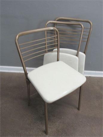 3 Vintage Hamilton Cosco Folding Banquet Chairs