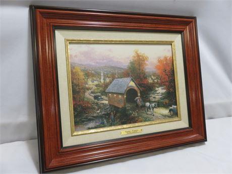 "THOMAS KINKADE ""Country Memories"" Canvas Board Print"