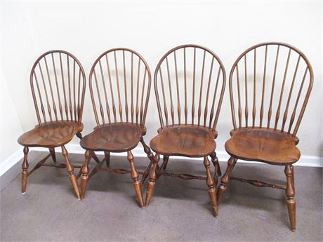 LOT OF 4 NICHOLS AND STONE CHAIRS