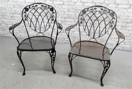 Sturdy Iron Patio Chairs