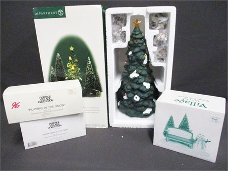 "DEPT. 56 LOT FEATURING ""THE TOWN TREE"" (#55654)"