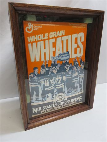 1991 NHL Stanley Cup Champions Pittsburgh Penguins Wheaties Box