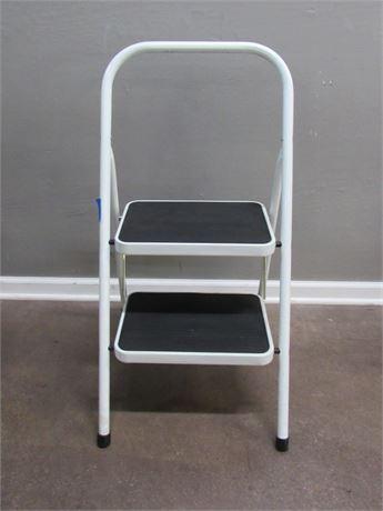 2-Step Metal Folding Step Ladder