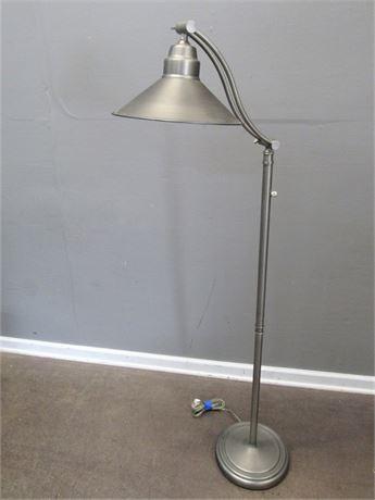 Satin Finished Adjustable Floor Lamp
