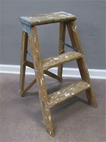2-Step Wooden Step Ladder
