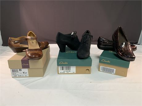 3 Pairs of New Clark Shoes