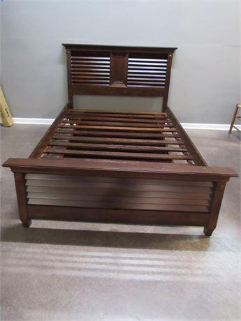 Bombay Shutter Style Full Size Platform Trundle Bed