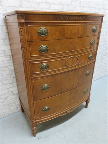 Vintage Bow Front Chest