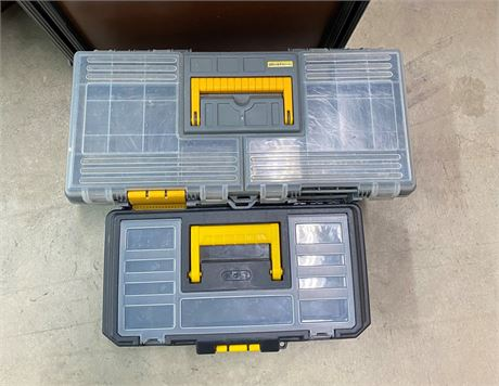 Two Workforce Toolboxes with tools lot.  Harley Davidson LOGO