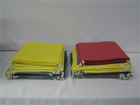 LARGE LOT OF FILE FOLDERS OVER 175