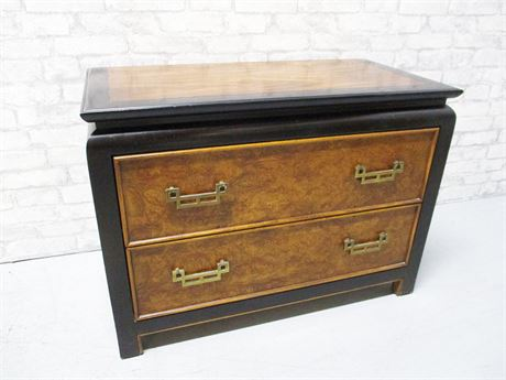 2-DRAWER ASIAN-INSPIRED NIGHT STAND BY CENTURY FURNITURE