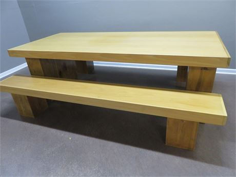 8 Ft. Pine Bench Seat Table