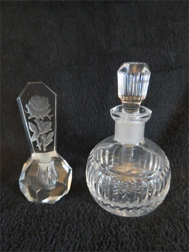 Transitional Design Online Auctions - Vintage Crystal Perfume