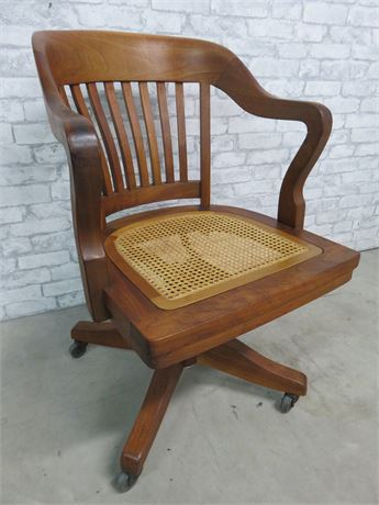 Cane Seat Bankers Chair