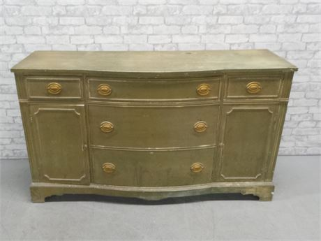 Attractive Distressed Green Wood Buffet