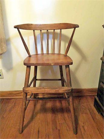 Vintage Wood High Chair