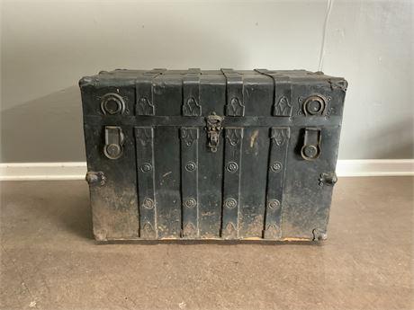 Vintage Leather Storage Trunk