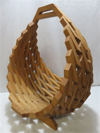 Decorative Wooden Basket Stand