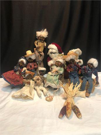 Vintage Apple Head Dolls