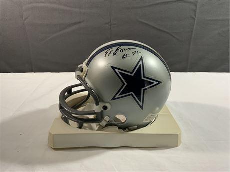 "Ed ""Too Tall"" Jones Cowboys Riddell AUTOGRAPH Mini Helmet"