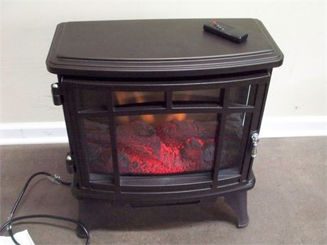 DURAFLAME BRONZE INFRARED ELECTRIC FIREPLACE STOVE WITH REMOTE