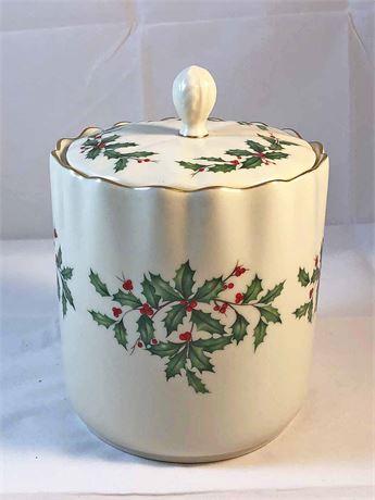 Lenox Holiday Bisquit Jar