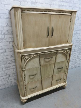 Antique Victorian Highboy Chest