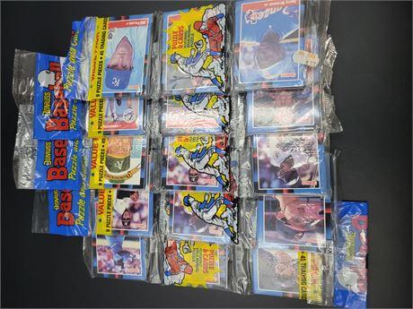 1988 Donruss 5 Rack Pack Lot featuring Mark McGwire Diamond Kings on Top