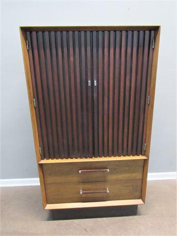 Vintage Lane Tower Suite Mid Century Modern Walnut & Rosewood Wardrobe