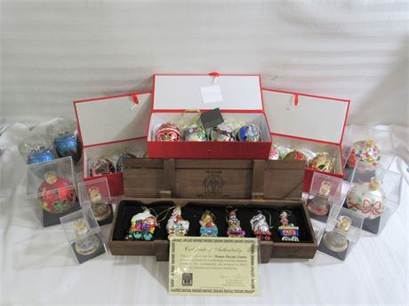 27 Piece Ornament Lot - Joan Rivers Collection and Thomas Pacconi Classics