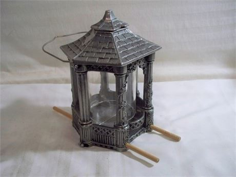 CAST METAL GAZEBO STYLE BIRD FEEDER - LIKE NEW