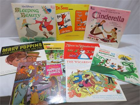 9-Piece Vintage Children's Record Album Lot