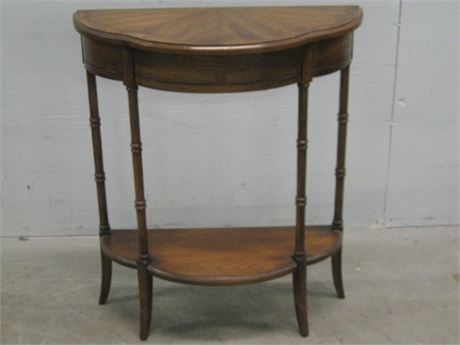 VERY NICE DEMILUNE TABLE