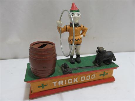 Trick Dog Cast Iron Mechanical Coin Bank