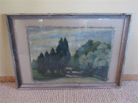 Antique Framed Canvas Painting - Budapest