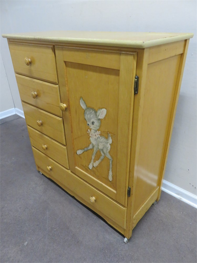 Transitional Design Online Auctions - Nursery Room Armoire