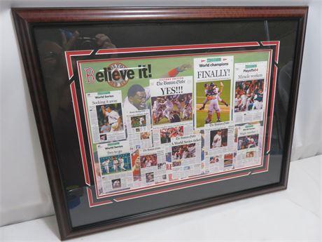2004 BOSTON RED SOX World Series Champions Commemorative Print