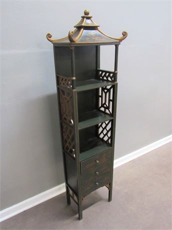 NARROW ARDLEY HALL ASIAN STYLE DISPLAY/CABINET