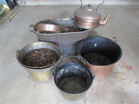 6 Piece Misc. Brass and Copper Lot