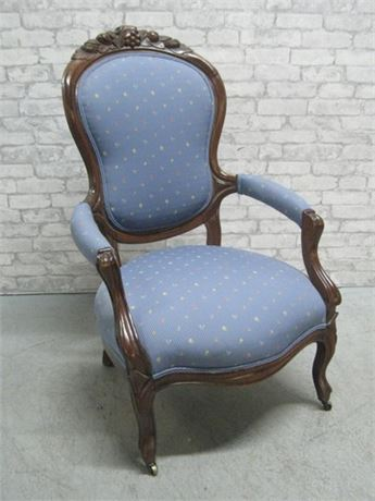 BEAUTIFUL ANTIQUE VICTORIAN SIDE CHAIR