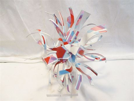 ORIGINAL SCULPTURE BY DOROTHY GILLESPIE, SIGNED AND NUMBERED  #10/60